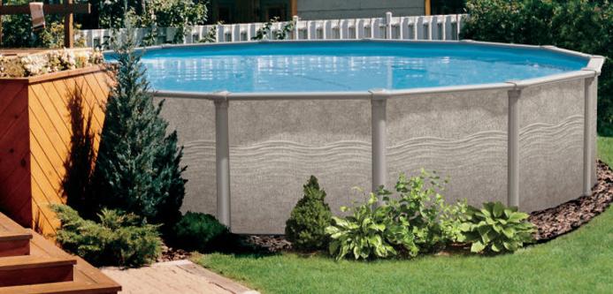 Piscines hors terre infinity piscines et spas 5000 - Amenagement paysager autour piscine hors terre ...