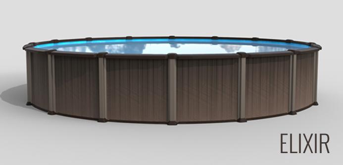 Piscine hors terre elixir piscines et spas 5000 for Prix piscine hors terre 24 pieds