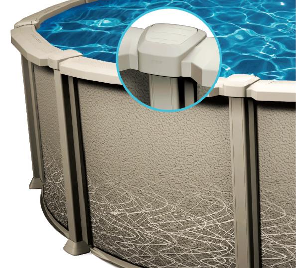 Piscine hors terre liberty piscines et spas 5000 for Piscine 24 pieds